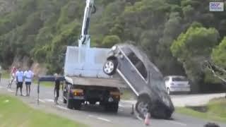 Неудачная погрузка, перевозка и буксировка автомобиля. Подборка
