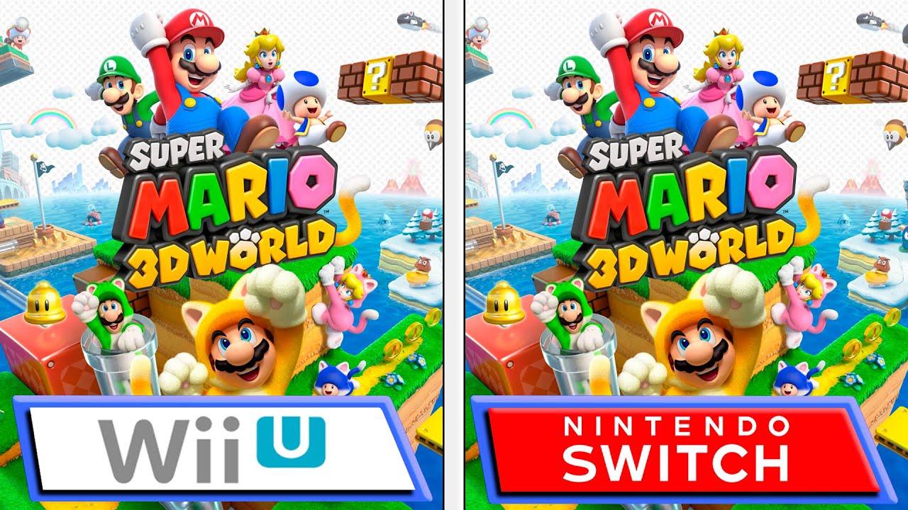 Super Mario 3D World | Switch VS Wii U | Graphics Comparison & FPS - YouTube