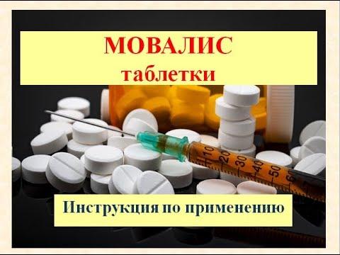 Таблетки Мовалис: Инструкция по применению