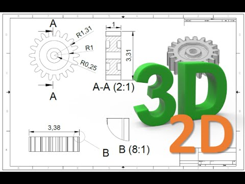 How to convert 3D to 2D drawing in AutoCAD - YouTube
