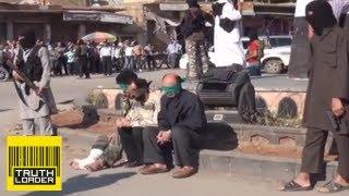 Public execution of three Syrians by Jihadist group in Raqqa - Truthloader