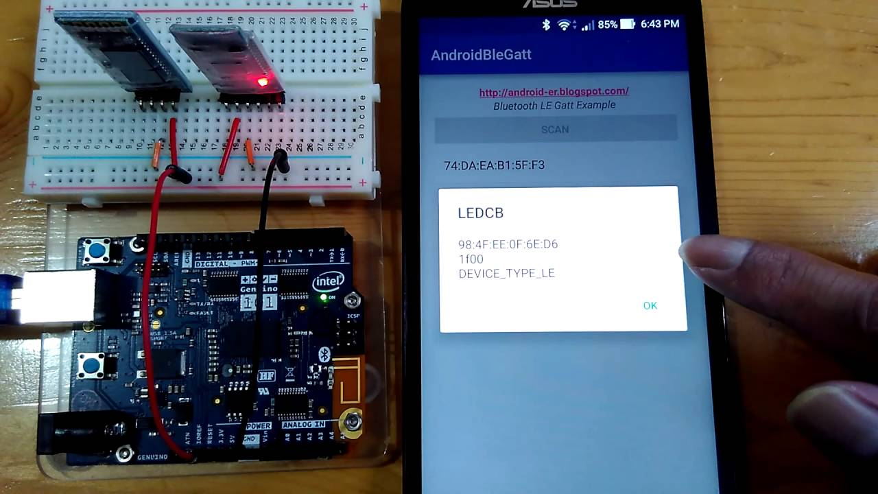 Bluetooth LE Gatt Example, scan BLE devices