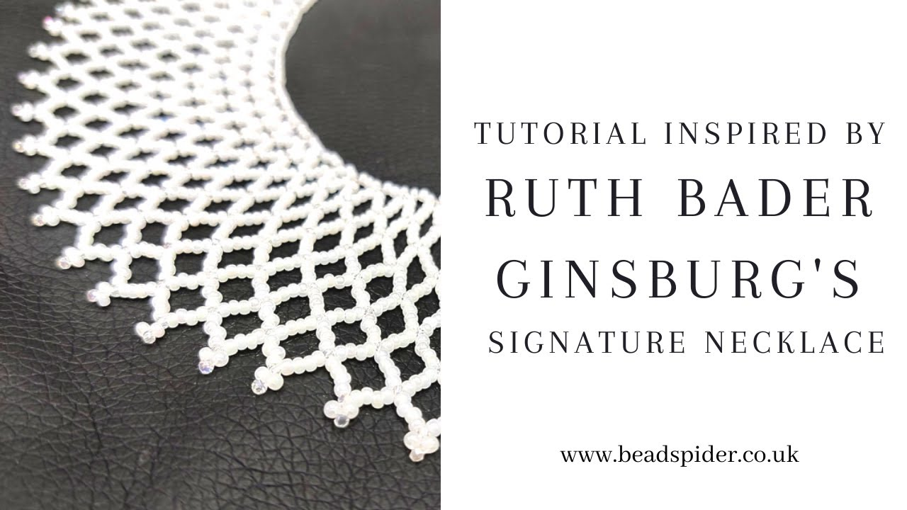 How to make Ruth Bader Ginsburg's Collar Necklace | Bead Spider Live Jewellery Tutorial