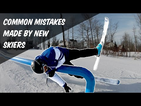 5 COMMON MISTAKES NEW SKIERS MAKE!!!