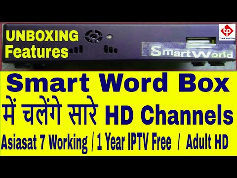 Smart World set top box Unboxing and Review , 1Year Free IPTV , Asiasat 7 Autoroll , Adult channels