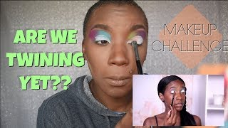 I TRIED FOLLOWING TOO MUCH MOUTH MAKEUP TUTORIAL | MAKEUP CHALLENGE | BEAUTY BY KANDI
