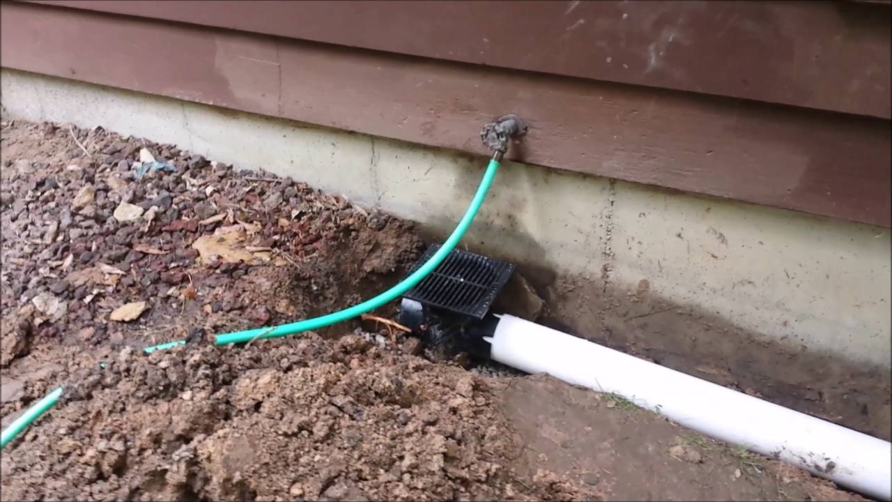 Landscape And Downspout Drainage Install Catch Basin Underground Drain
