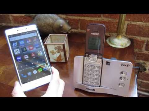 VTech Connect to Cell - Incoming Outgoing Call Demo Through Cell Phone