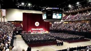 Aggie War Hymn at Graduation Ceremony