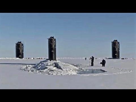 U.S. & U.K. Navy Nuclear Submarines Break Through Arctic Ice