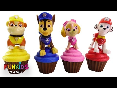 Thumbnail: Best Learning Videos for Children: Paw Patrol Skye & Chase Cupcakes Icing, Sprinkles & Toy Microwave