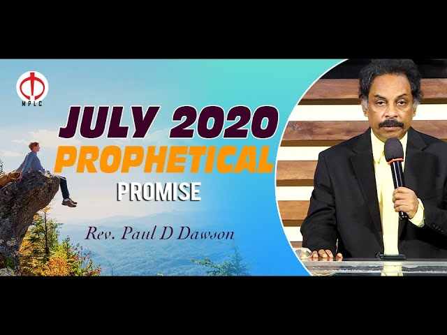 Prophetical Promise for the month of July