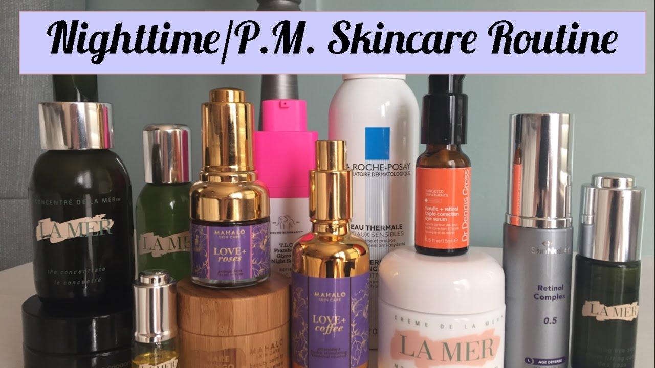 Nighttime skincare routine skinmedica la mer de for La cabine skincare