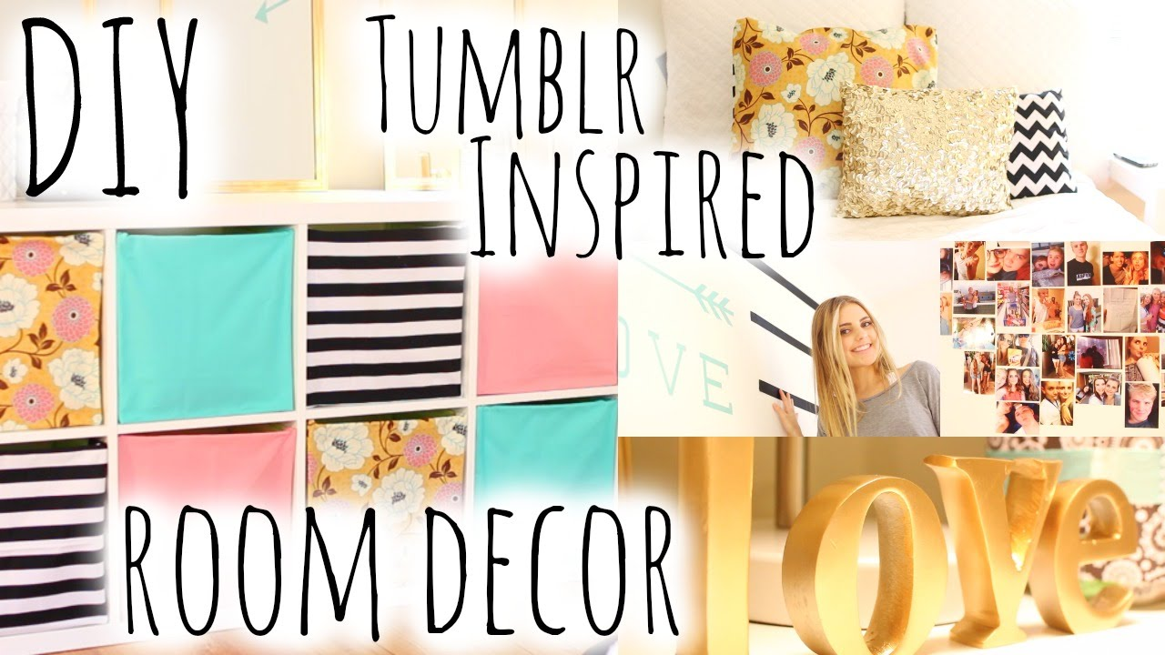 Diy bedroom decorating ideas tumblr - Diy Room Decor Organization Inspired By Tumblr Aspyn Ovard Youtube