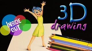 drawing JOY from INSIDE OUT 3D Wie zeichnet man Freude aus Alles steht Kopf A
