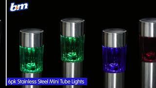 Stainless Steel Mini Tube Post Lights | B&M Stores