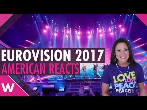 Eurovision 2017: Reaction video to all 42 songs by American woman