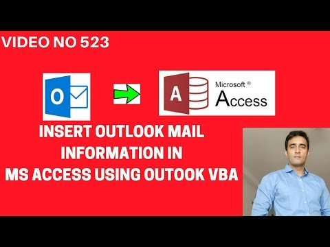 Learn -Connecting Outlook Access- Video 523 - VBA - Insert email information in Access table
