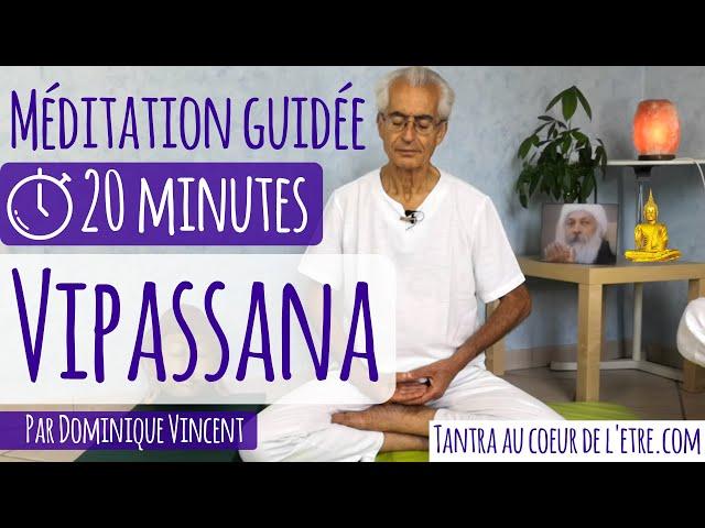 Vipassana - méditation guidée 20 minutes en français - par Dominique Vincent