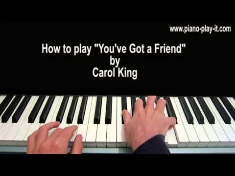 You've Got a Friend Piano Tutorial Carole King