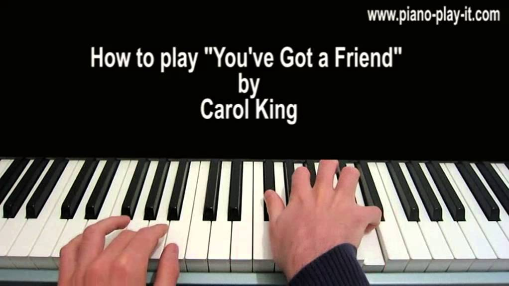 Youve Got A Friend Piano Tutorial Carole King Youtube