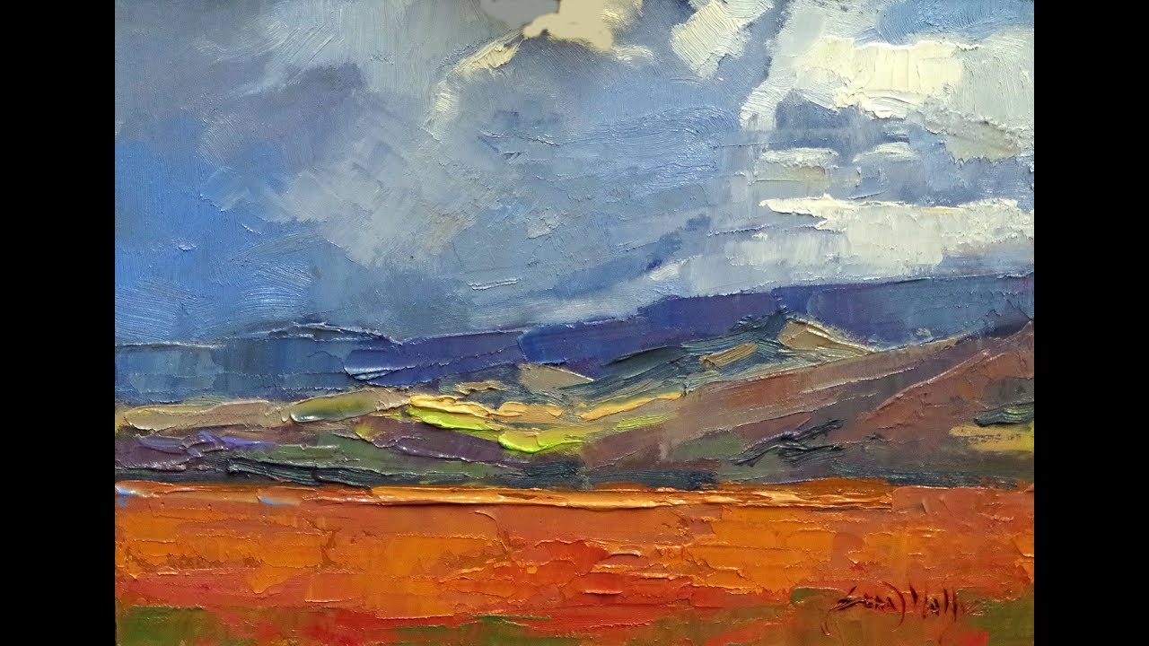 Oil painting study | Landscape impressionism | Time Lapse | bold color - Oil Painting Study Landscape Impressionism Time Lapse Bold