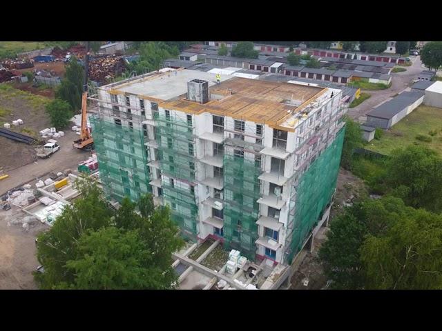 Szalowanie stropu budynku wielorodzinnego w Porębie | ABC Szalunki