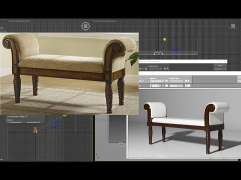 3ds max tutorial bench Furniture model.