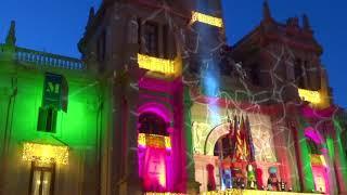 Детский новогодний концерт со световым шоу. Встреча Волшебных Королей, Валенсия, Испания.