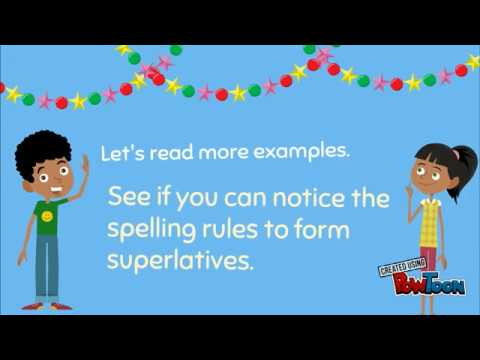 superlatives superlative adjectives english for kids grammar