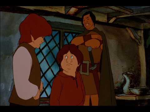 Aragorn at the Prancing Pony - Ralph Bakshi's Lord of the Rings 1978