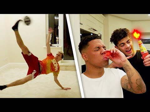 EPIC SIDEMEN HOUSE INDOOR FOOTBALL TENNIS W/MINIMINTER! + EXTREME FORFEITS!