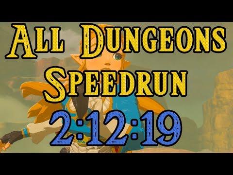 Breath of the Wild - All Dungeons Speedrun (2:12:19)