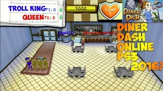 DINER DASH (PS3) ONLINE PLAYING WITH QUEEN (RARE GAME)