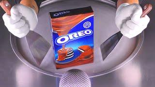 Chocolate covered OREO Ice Cream Rolls  oddly satisfying Scraper crushing Cookies - fast ASMR 먹방