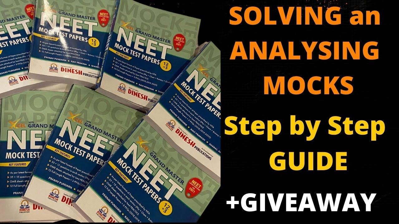 (GiveAway) Solving and Analysing MOCKS I Step by Step Guide I Book Reveal (+Instructions to use)