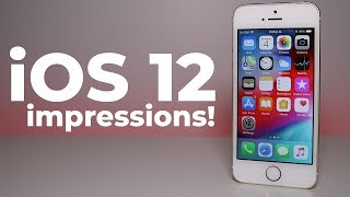 iOS 12 Impressions! (iPhone 5S is faster?)