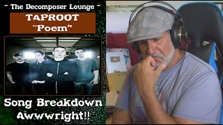 """Taproot """"Poem"""" // Composer Reaction & Song Dissection // The Decomposer Lounge"""