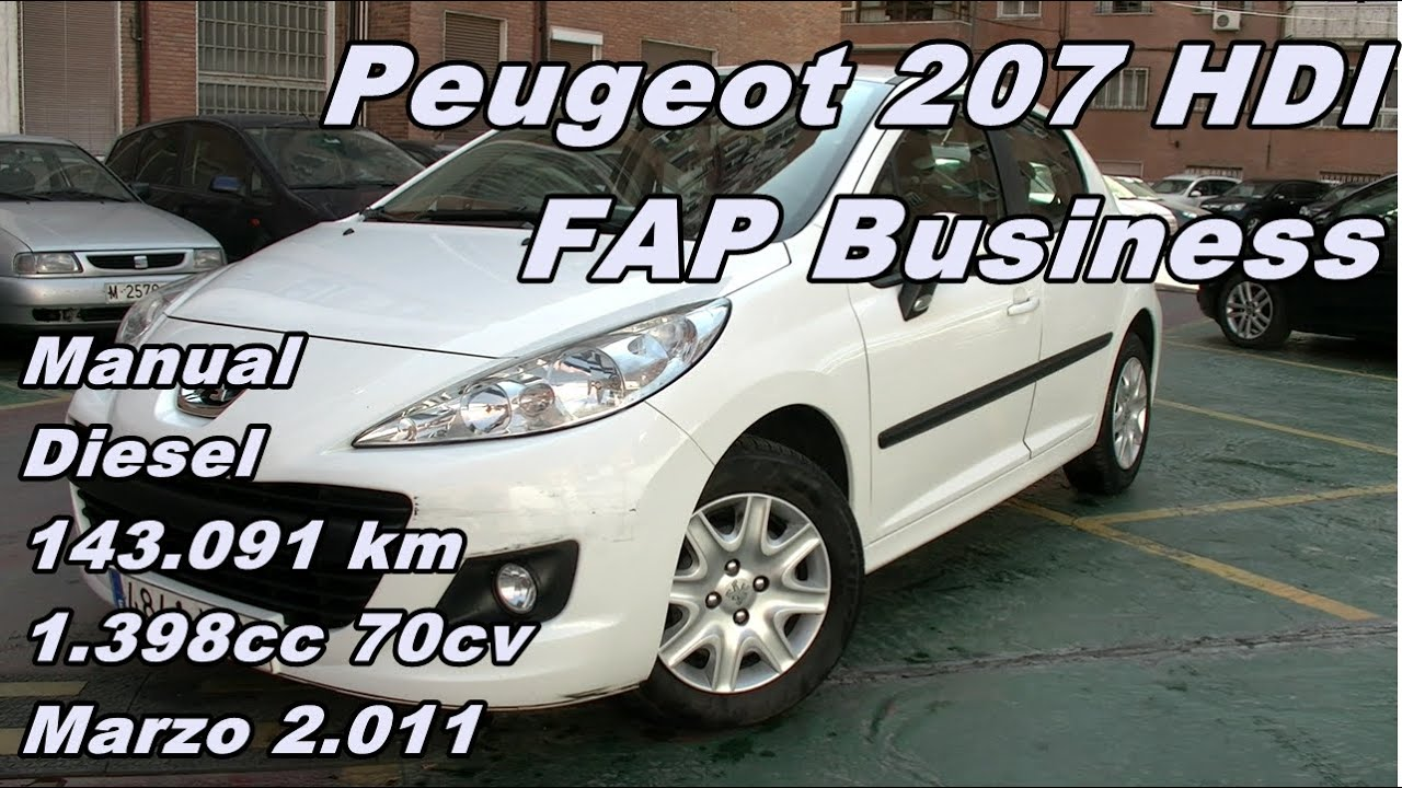 peugeot 207 hdi fap business 11 manual diesel 70cv 143. Black Bedroom Furniture Sets. Home Design Ideas