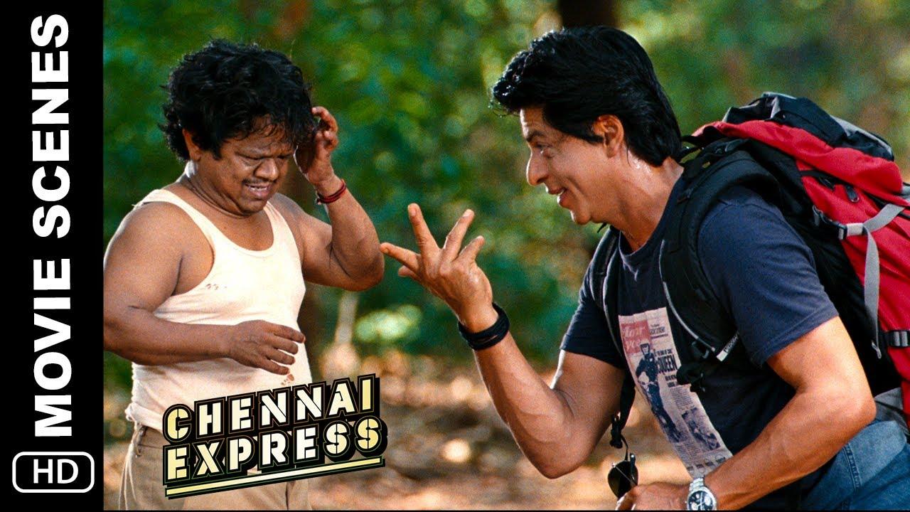 Download Chennai Express   Shah Rukh Khan tries to talk in Tamil   Movie Scene