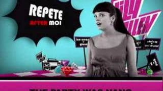 """Lily Allen - Repete after moi - """"The party was nang"""""""