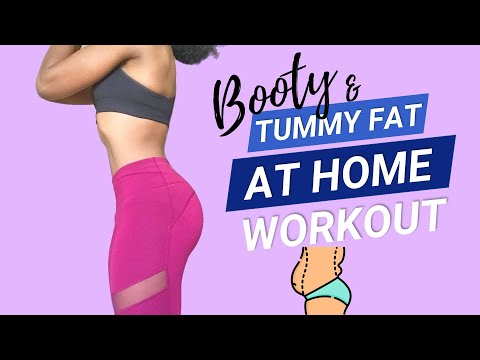 4 TUMMY FAT Exercises to Lose Belly Fat ➟ Lift Your Butt ➟ No Equipment Weightloss Workout for Women