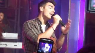 Joe Jonas performing Just in Love on NML in Toronto at MuchMusic on...