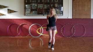 Hula Hoop Tutorial: TRANSITION & ROUTINE IDEAS : Beginner / Intermediate Hooping Tricks