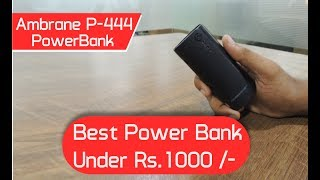Ambrane P-444 4000mAh Power Bank Unboxing & In-Depth Review