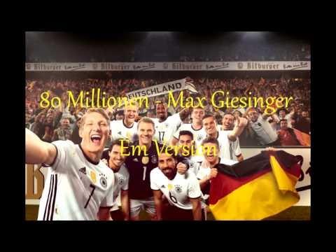 80 Millionen Em Version - Max Giesinger Lyrics