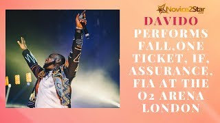 Davido performs Fall, One Ticket, IF, Assurance, Fia at the O2 Arena London