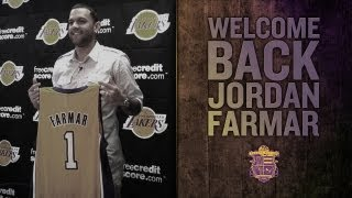 Jordan Farmar Press Conference: Lakers Introduce Point Guard Farmar Who Rejoins The Lakers