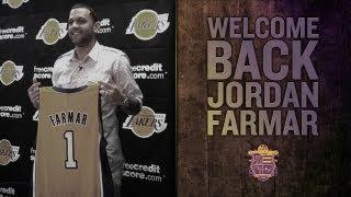 Jordan Farmar Press Conference: Lakers Introduce Point Guard Farmar Who Rejoins The Lakers