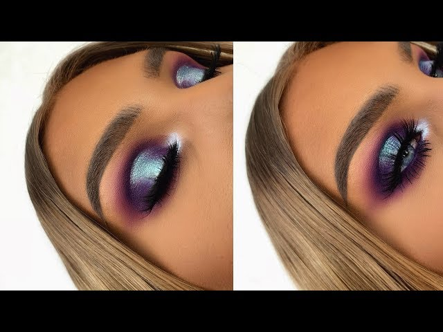 ABH RIVIERA PALETTE PURPLE BLUE SPOTLIGHT HALO EYE | MAKEUP TUTORIAL